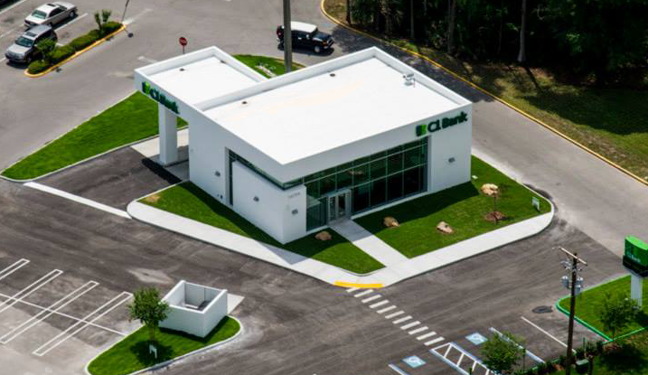 commercial construction aerial view